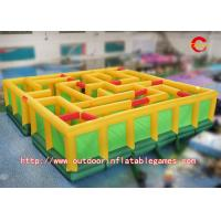 Wholesale Giant Castle Style Inflatable Maze Sports Game With 0.55mm / 0.9mm PVC Tarpaulin from china suppliers