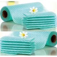 Wholesale Non Woven Household Cleaning Wipes / Hand Towel Rolls 25*28cm Red Green Blue from china suppliers