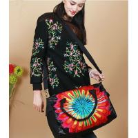 Quality Sun flower Handmade shoulder bags Red women messenger bag high grade lady shoulder bags Satin complicated Embroidered for sale