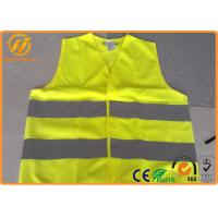Quality High Visibility Polyester Reflective Safety Vests FluorescentOrange / Yellow for sale