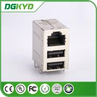Wholesale KRJ -2USB083WDNL RJ45 USB Connector 2X1 RJ45 + 2 USB 6116151-1 Without Magnetics from china suppliers