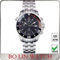 Quality Wrist Sport Chronograph Watches Stainless Steel , Mens Waterproof Watches for sale