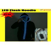 Wholesale Sound Activated Neon El Wire Light Up Hoodies For Women / Mens from china suppliers
