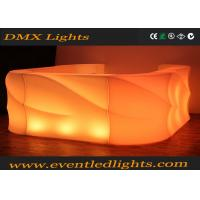 Quality PE Material Led Light Furniture Bar Counter With Lithium Battery for sale