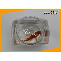 Quality 1.2L Flat PET Clear View Fish Plastic Tank for Aquarium , Silk screen printing for sale