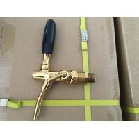 Buy cheap golden beer tap made of brass with stainless steel probe , for beer tower and cooler use from wholesalers