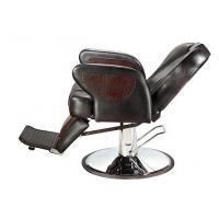 Quality WT-6924 Brown Vintage Barber Shop Chairs Reclining Backrest With Tilted Footrest for sale