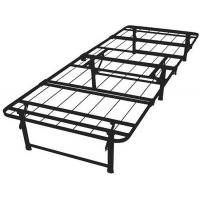 Wholesale Adjustable black wire mesh metal frame bed queen size long lasting folding metal bed from china suppliers