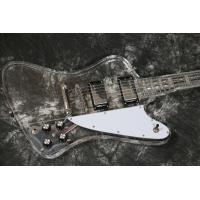 Wholesale Top quality Full Acrylic Electric Guitar With LED Light Blue Color from china suppliers
