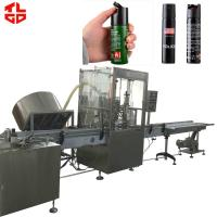 Wholesale High Efficient Automatic Aerosol Filling Machine Production Line for Self Defense Spray from china suppliers