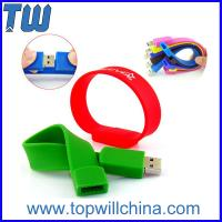 Wholesale Silicone Wristband Usb Pen Drive 2GB Free Logo Printing Popular Design from china suppliers