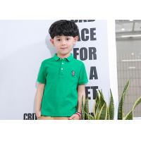 Thin Shirt Half Sleeve Embroidery Children's Style Clothing Boys Polo Shirts for sale