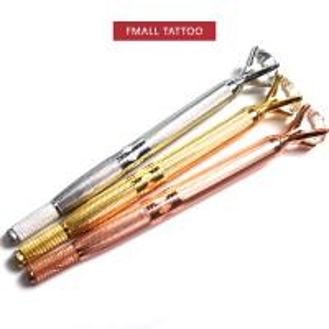 China Hot Sale Grand Diamond Microblading Pen Eyebrow Tattoo Pen  Microblading Needles Permanent Makeup Kit with Manual Pen on sale