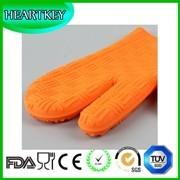 Quality Silicone Non Slip Silicone and Cotton Oven Mitt Insulated Silicone Glove Use For Oven Microwave Oven And Grill for sale