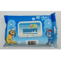 Wholesale OEM Disposable Wet Wipes , Paw wet wipes for pet cleaning from china suppliers