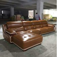 Quality A15;  L shape genuine leather sofa, modern home furniture,office furniture, living room furniture, China sofa for sale