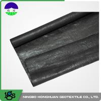 Quality 210g Black High Strength Circle Loom Polypropylene Woven Geotextile Filter Fabric for sale