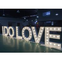 Wholesale Illuminated I DO LOVE Wedding Letter Lights Large Signs For Decoration from china suppliers