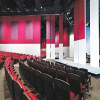 Wholesale Auditorium Interior Wooden Folding Partition Walls with Aluminum Frame from china suppliers