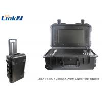 Wholesale 4 Channel IP65 Portable Briefcase Wireless Digital COFDM Video Receiver With 256 - bit AES Encryption from china suppliers
