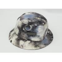 Quality Multi Color Cotton Printed Fishing Bucket Hat Metal Patch For Lady for sale