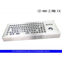 Wholesale Desktop 86 Keys Waterproof Metal Keyboard With Integrated Trackball from china suppliers