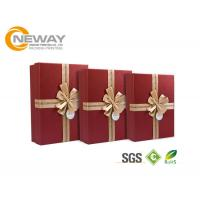 Quality Colorful Elegant Square Rigid Cardboard Packaging Boxes With Beautiful Ribbon for sale