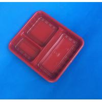 Quality biodegradable disposable plastic meal tray container for sale