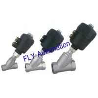 Wholesale 2000 Threaded Port 2/2 Way Angle Seat Valve Integrated PA Pneumatic actuator from china suppliers