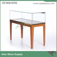Wholesale jewelry shop counter design stainless steel jewelry showcase with lock wooden showcase from china suppliers