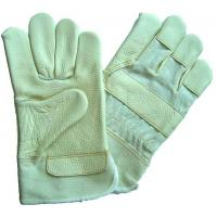 Wholesale XL Assorted light color half lining split Furniture Leather Work Glove for women 603FWL from china suppliers