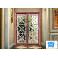 Wholesale Building Clear Beveled Glass Window Panels  / Door Acid Etched Sound Insulation from china suppliers