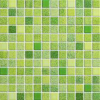 Wholesale Green Mix Glazed Ceramic Mosaic Tiles 315x294 mm For Kitchen Wall from china suppliers