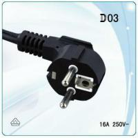 Quality European 1.5mm or 2.5mm  wire cable with  earth power plug for sale