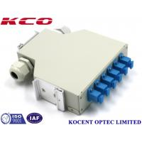 Wholesale KCO-DINRAIL-SC-SM-06 Fiber Optic Terminal Box Single Mode SC 6 Ports FTTH GPON from china suppliers