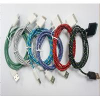 Wholesale braided rope mobile phone usb data cable , mobile phone data line from china suppliers