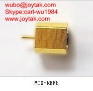 Wholesale High quality gold plated MCX jack streight PCB mount type coaxial connector MCX-KEF-B from china suppliers