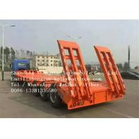 Scraper Transporter 30 - 70 Tons Low Bed Semi Trailer , ISO Lowboy Semi Trailer