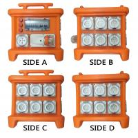 Wholesale MK1 Portable Power Distribution System Rubber Box Orange Outdoor Distribution Board Stackable from china suppliers