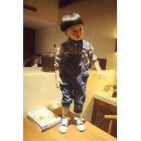 Wholesale Embroidered Pocket Boys Size 7 Denim Overalls , Spring Slim Fit Kids Denim Jeans from china suppliers