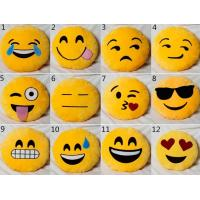 Wholesale Yellow Emoji Emoticon Round Stuffed Baby Sleeping Pillow For Home Use from china suppliers