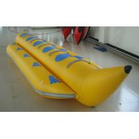 Wholesale Yellow PVC Single Tube Inflatable Banana Boat For Water Sports from china suppliers