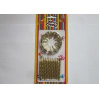 Wholesale Non Toxic Spiral Gold Birthday Candles , Stick Birthday Cake Sparkler Candles from china suppliers