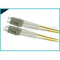 Wholesale Yellow 3.0mm Fiber Optic LC to LC Zipcord Singlemode SMF Patch Lead Assembly from china suppliers
