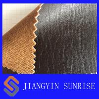 Wholesale Jean Satin Car Seat Leather Upholstery , PU CoatedCow Split Leather from china suppliers