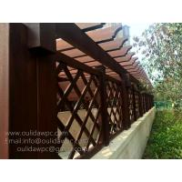 Wholesale cutsomized pergola design:wood plastic pre built pergolas for car entrance from china suppliers