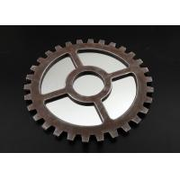"""Wholesale 15"""" Round Gear Shape Wooden Framed Mirrors , Rural Rust Finishing Wood Surround Mirrors from china suppliers"""