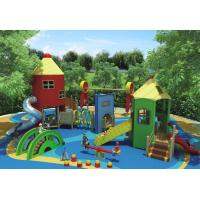 Buy cheap Themed KQ70027A Custom Playgrounds / Solid Wood Material Kids Playground Set from wholesalers