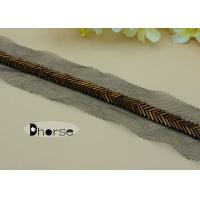 Buy cheap Handmade 1CM Brown Gold Beaded Trim By The Yard For Garment Decoration from wholesalers