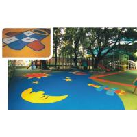 Wholesale EPDM Rubber Sports Flooring Colored For Safety Playground / Leisure Area / Park from china suppliers